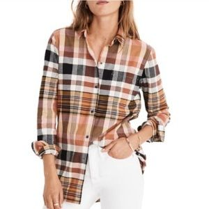 Madewell Classic Ex-Boyfriend Plaid Shirt
